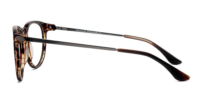Ultraviolet Brown Striped Acetate-metal Eyeglass Frames from EyeBuyDirect
