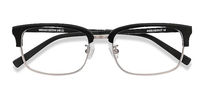 Black Wizard -  Vintage Acetate, Metal Eyeglasses