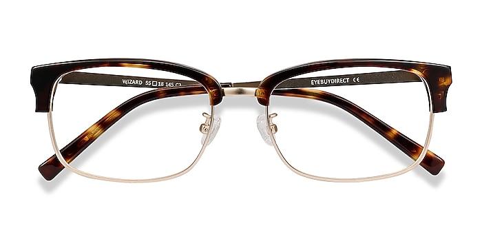 Tortoise Wizard -  Designer Acetate, Metal Eyeglasses