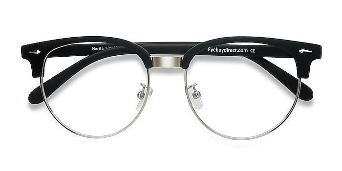 Matte Black Narita -  Vintage Plastic, Metal Eyeglasses