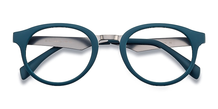 Matte Green Aisu -  Plastic, Metal Eyeglasses
