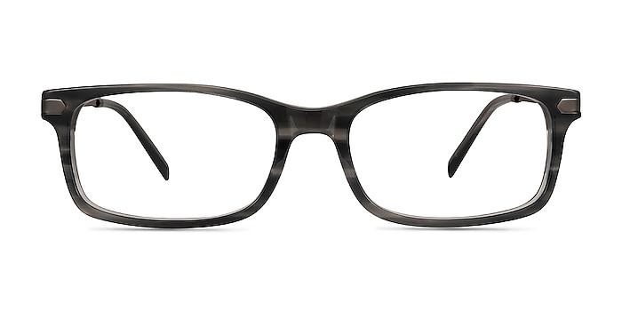 Requiem Gray Striped Acetate-metal Eyeglass Frames from EyeBuyDirect