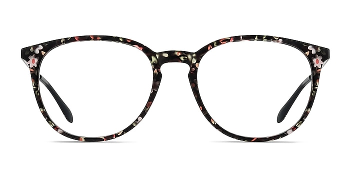 Gracious Pink Floral Plastic-metal Eyeglass Frames from EyeBuyDirect
