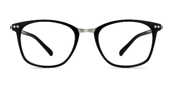 Savannah Matte Black Plastic-metal Eyeglass Frames