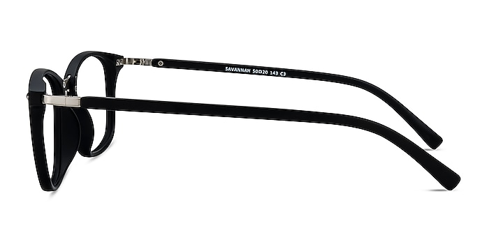 Savannah Matte Black Plastic-metal Eyeglass Frames from EyeBuyDirect