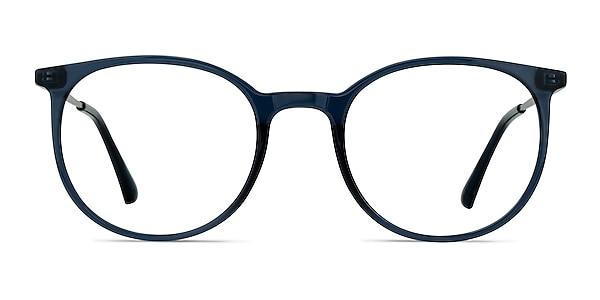 Marilou Clear Cobalt Plastic-metal Eyeglass Frames