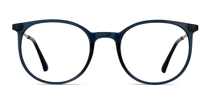 Marilou Clear Cobalt Plastic-metal Montures de lunettes de vue d'EyeBuyDirect