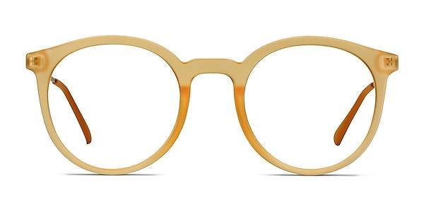 Grin Matte Yellow Plastic-metal Eyeglass Frames