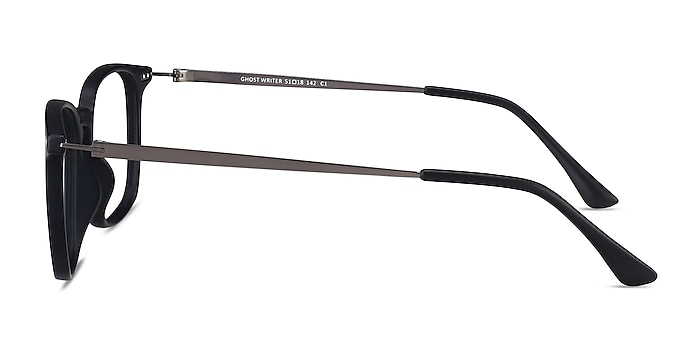 Ghostwriter Matte Black Plastic-metal Montures de lunettes de vue d'EyeBuyDirect