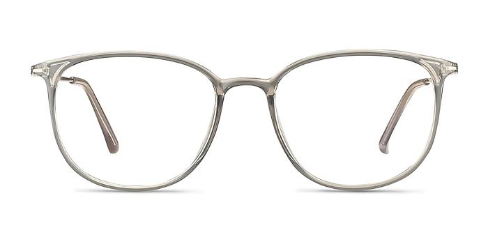 Strike Clear Gray Plastic-metal Eyeglass Frames from EyeBuyDirect