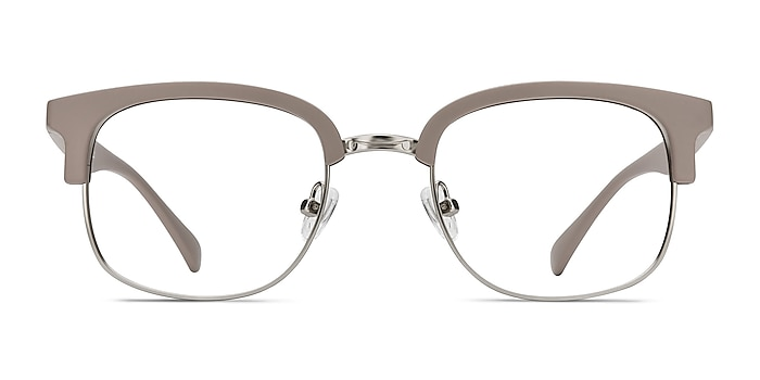 Yokote Gray Plastic-metal Eyeglass Frames from EyeBuyDirect
