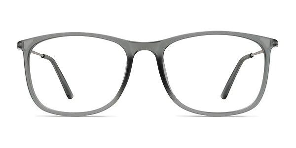 Hurricane Matte Gray Plastic-metal Eyeglass Frames
