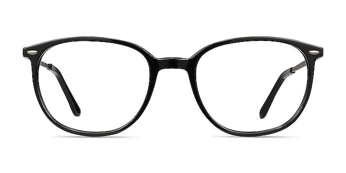 Eros Black Acetate-metal Eyeglass Frames from EyeBuyDirect
