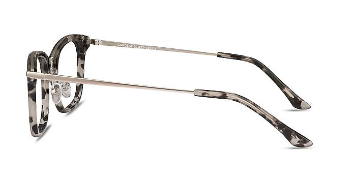 Candela Gray Floral Acetate-metal Montures de lunettes de vue d'EyeBuyDirect