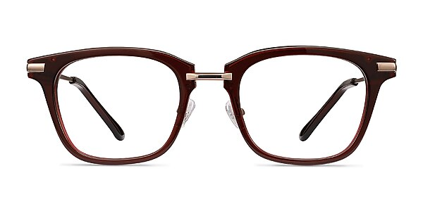 Candela Burgundy Acetate-metal Eyeglass Frames