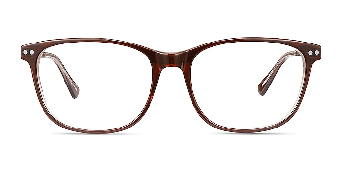 Grid Brown Acetate-metal Eyeglass Frames from EyeBuyDirect