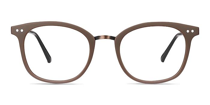 Lyric Brown Plastic Eyeglass Frames from EyeBuyDirect