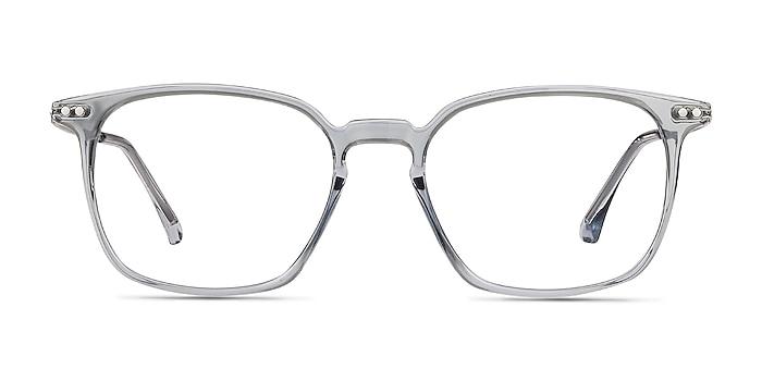 Ghostwriter Clear Blue Plastic-metal Montures de lunettes de vue d'EyeBuyDirect