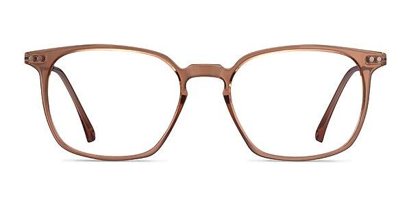 Ghostwriter Clear Orange Plastic-metal Eyeglass Frames