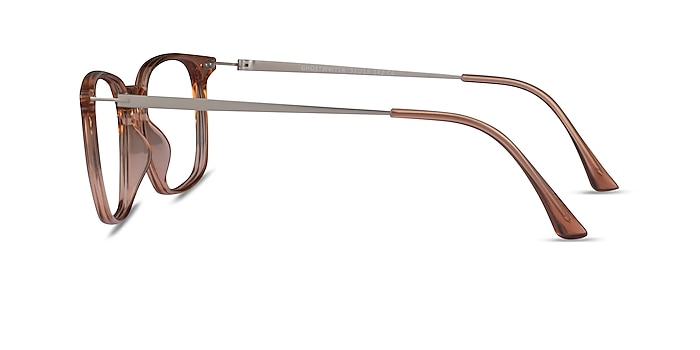 Ghostwriter Clear Orange Plastic-metal Montures de lunettes de vue d'EyeBuyDirect