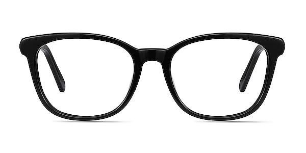 Kat Black Acetate-metal Eyeglass Frames