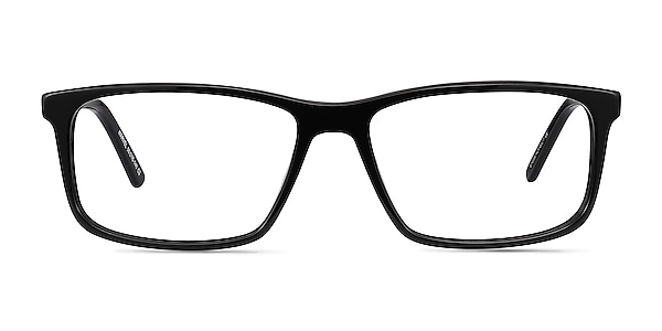 Marvel Black Acetate-metal Eyeglass Frames