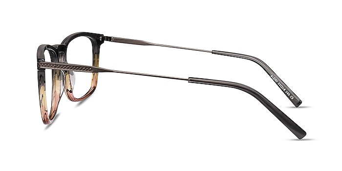 Glory Gray Striped Acetate-metal Eyeglass Frames from EyeBuyDirect
