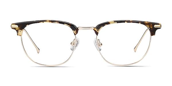 Relive Tortoise Golden Acetate-metal Montures de lunettes de vue