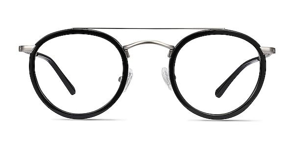 Architect Black Silver Acetate-metal Eyeglass Frames