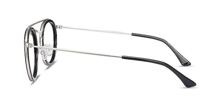 Architect Black Silver Acetate-metal Eyeglass Frames from EyeBuyDirect