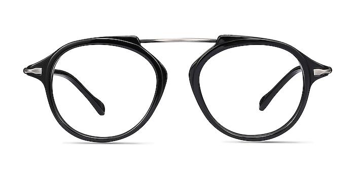 Terminal One Black Gunmetal Acetate-metal Eyeglass Frames from EyeBuyDirect
