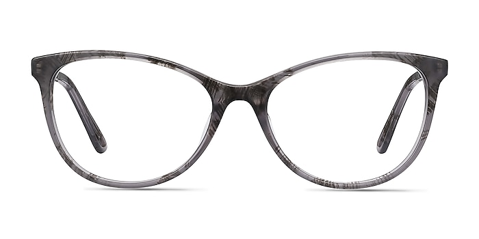 Cat's Meow Gray Floral Acetate-metal Eyeglass Frames from EyeBuyDirect