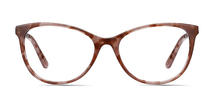 Cat's Meow Brown Floral Acetate-metal Eyeglass Frames from EyeBuyDirect
