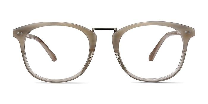 Era Gray Clear Acetate-metal Eyeglass Frames from EyeBuyDirect