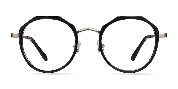 Accent Black Acetate-metal Eyeglass Frames