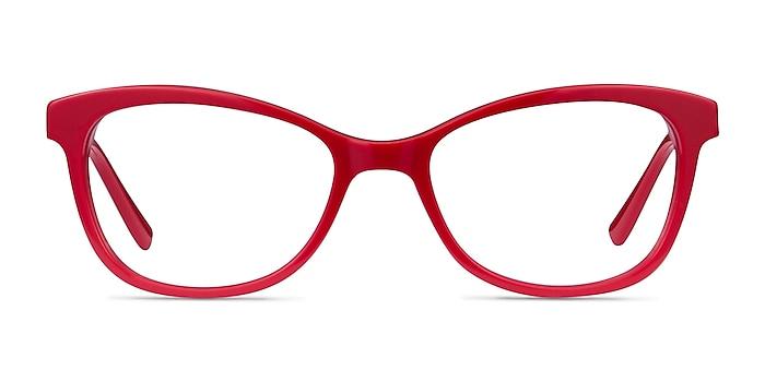 Ripple Red Acetate-metal Eyeglass Frames from EyeBuyDirect
