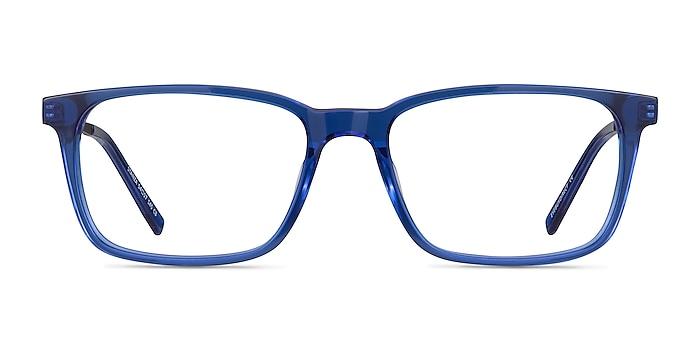 Stanza Blue Acetate-metal Eyeglass Frames from EyeBuyDirect