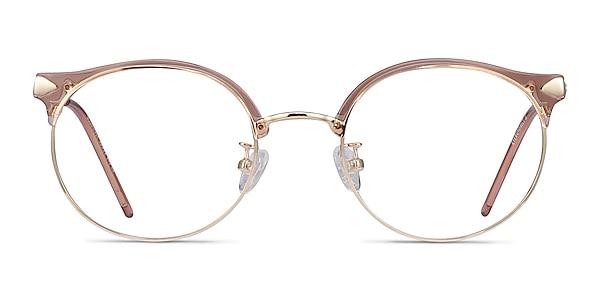 Moon River Clear Pink Plastic-metal Eyeglass Frames