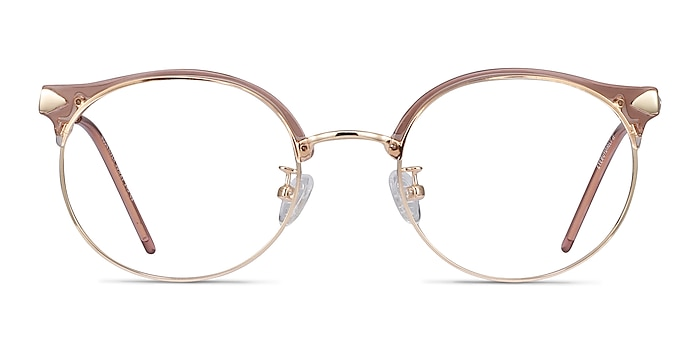 Moon River Clear Pink Plastic-metal Eyeglass Frames from EyeBuyDirect