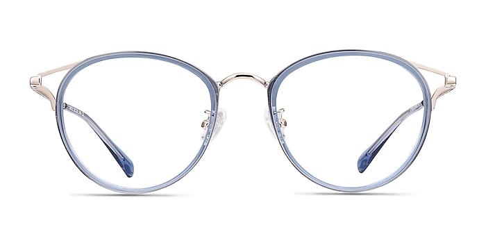 Dazzle Blue Acetate-metal Eyeglass Frames from EyeBuyDirect