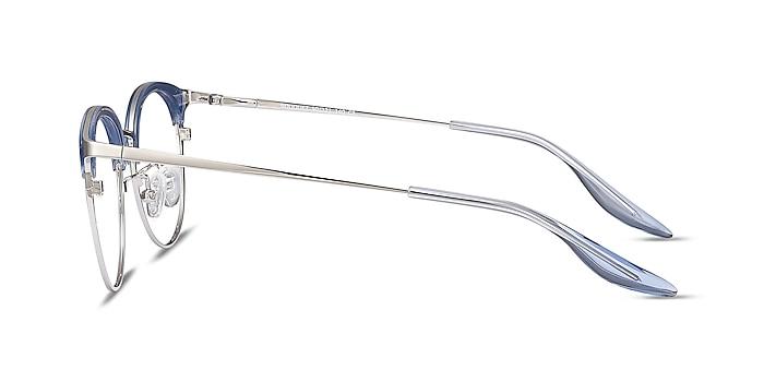 Bouquet Blue Silver Acetate-metal Montures de lunettes de vue d'EyeBuyDirect