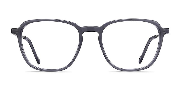 The Fan Gray Acetate-metal Eyeglass Frames from EyeBuyDirect