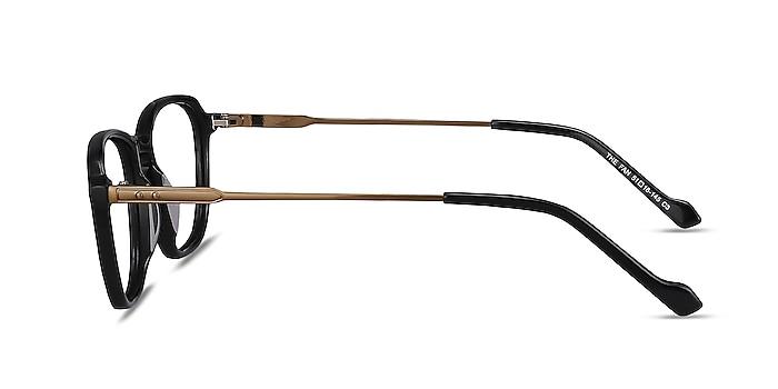 The Fan Black Acetate-metal Eyeglass Frames from EyeBuyDirect