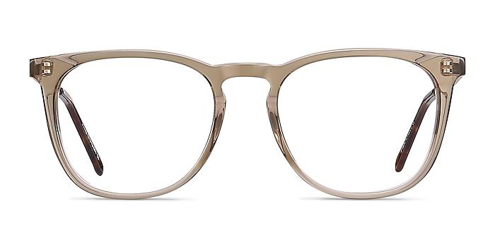 Vinyl Clear Brown Acetate-metal Eyeglass Frames from EyeBuyDirect