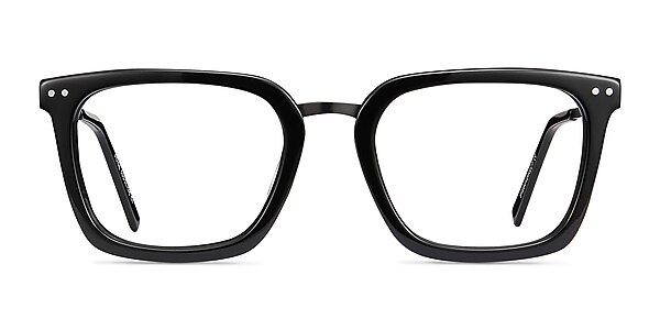 Poise Black Acetate-metal Eyeglass Frames