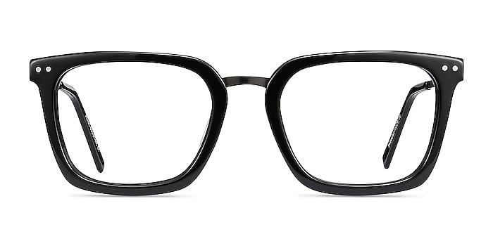 Poise Noir Acetate-metal Montures de lunettes de vue d'EyeBuyDirect