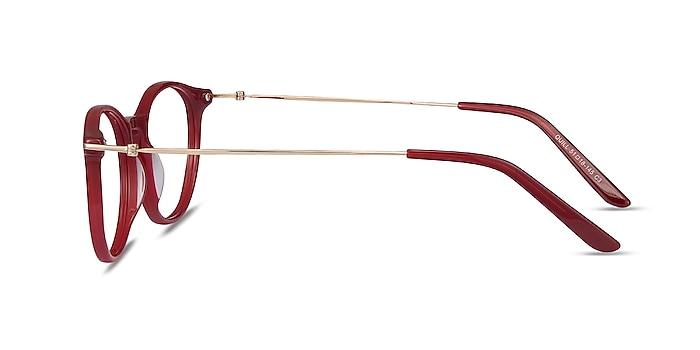 Quill Rouge Acetate-metal Montures de lunettes de vue d'EyeBuyDirect