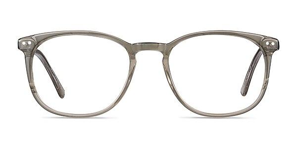 Savvy Clear Gray Acetate-metal Eyeglass Frames