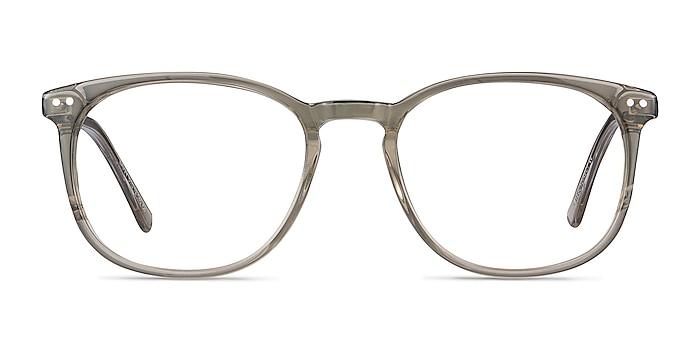 Savvy Clear Gray Acetate-metal Montures de lunettes de vue d'EyeBuyDirect