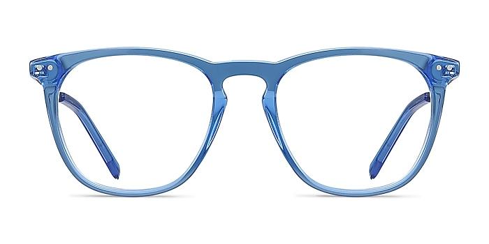 Distance Blue Acetate-metal Eyeglass Frames from EyeBuyDirect